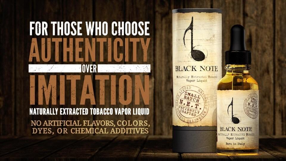 Black Note Vapor Liquid Tobacco