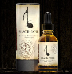 Black Note Tube and bottle