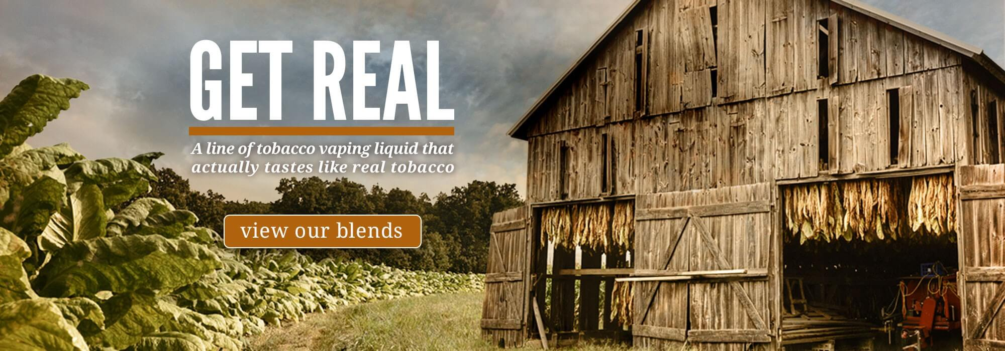 Taste real tobacco e-liquid