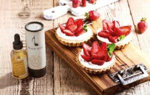 Prelude: Virginia tobacco e-liquid with strawberry short cake.