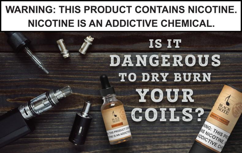 Dry hit coil ecigarette