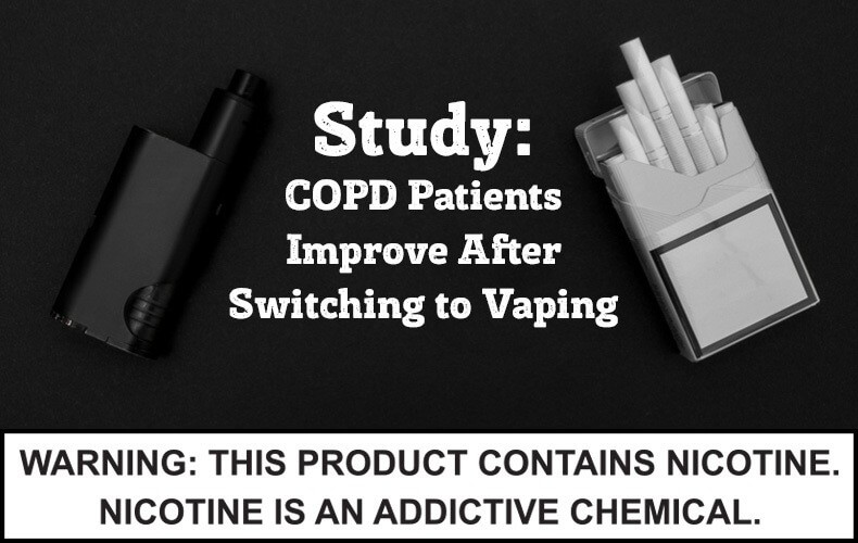Switching to vaping improves COPD patients