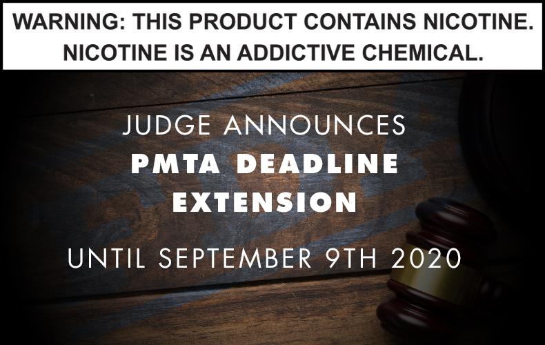 PMTA Deadline pushed back